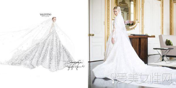 奢侈品牌华伦天奴婚纱 妮基·希尔顿穿的婚纱就是它