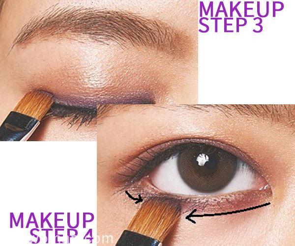 谁说紫色难驾驭 紫色眼妆也可以很可爱